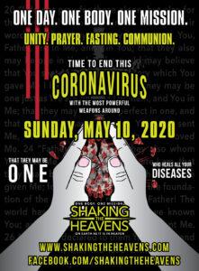 Crushing the coronavirus with prayer