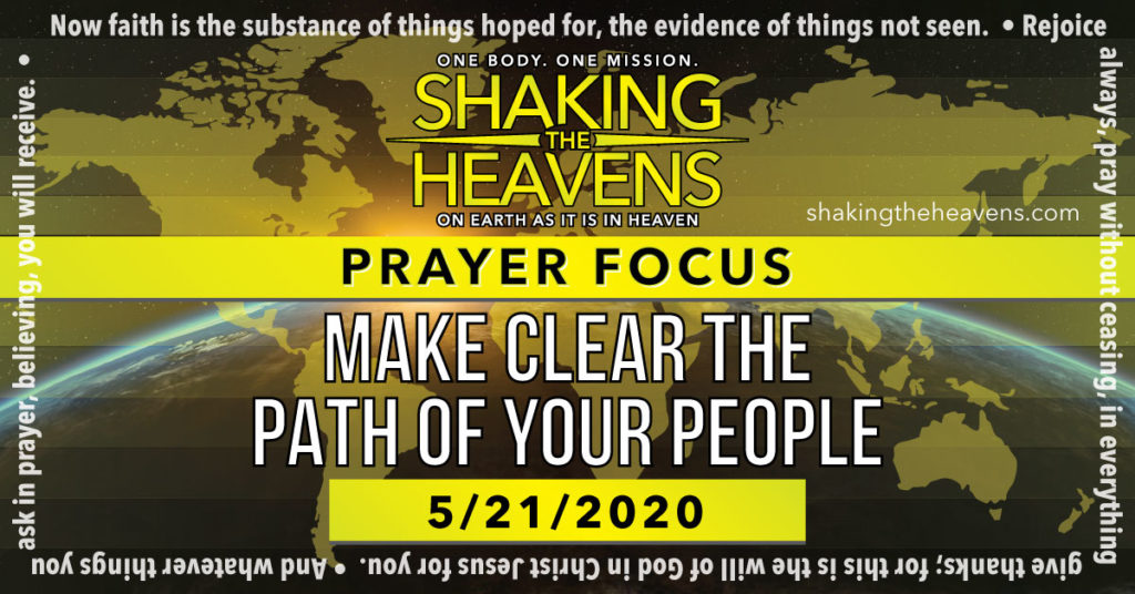 Daily Prayer- Make Clear the Path of Your People